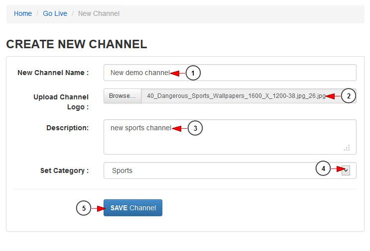 Create new channel | NKTelko manual V6 0