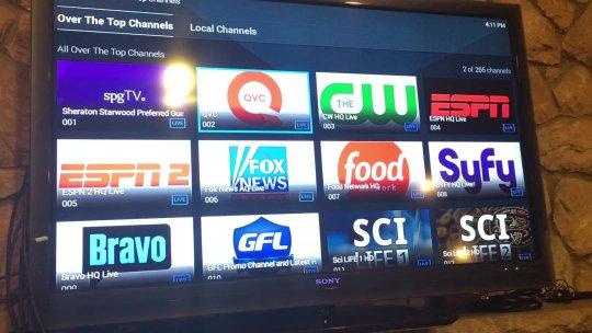Channel scanning inside app